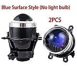 NEW 3.0 inch Bixenon Projector Fog Light Lens Driving Lamp HID Bulb H11/D2H Waterproof For Ford Focus 2 3/PEUGEOT/RENAULT/SUBARU (blue)