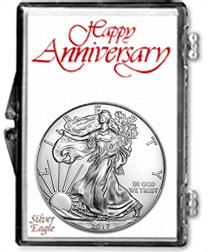 2017 - 1 Ounce American Silver Eagle in Anniversary Holder Dollar Uncirculated Us (American Silver Eagle Dollar Coin)