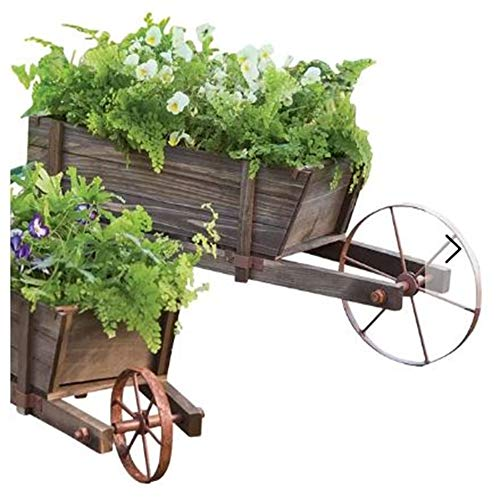 Large Decorative Solid Wood Outdoor Vintage Style Wheelbarrow