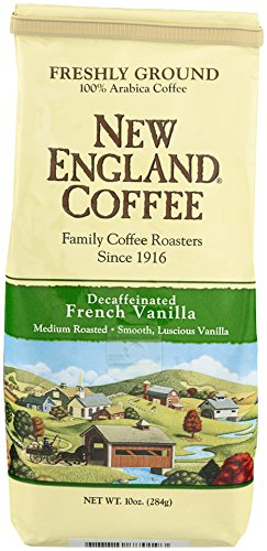 New England Coffee French Vanilla, Decaffeinated, 10 Ounce