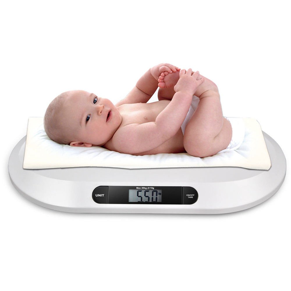 OUkANING Smart Weigh Báscula para bebé, balanza digital con grande retroiluminada LCD, 3 modos de pesaje y de tara, 20 kg / 44 lb 3 modos ] Kitchen Cooking ...