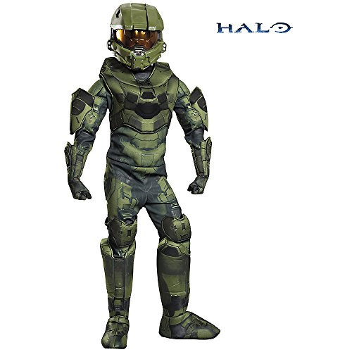 Disguise Master Chief Prestige Costume, Large (10-12) (Halo Master Chief Kids Costume)