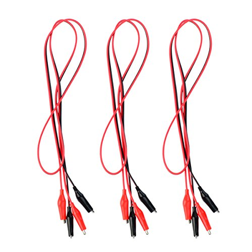 Wobe 3 Groups 1M Test Leads Set with Alligator Clips 39 Inches Double-ended Jumper Wires Alligator Clamps Test Wires Crocodile Alligator Clip Wires Electric Test Cables Connectors Wire Circuit Experim