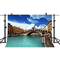 MME 10x7Ft Venice City Photography Background Arch Bridge Backdrop Italian Landmarks Photo Video Studio Props NANME238
