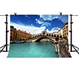 italian background - MME 10x7Ft Venice City Photography Background Arch Bridge Backdrop Italian Landmarks Photo Video Studio Props NANME238