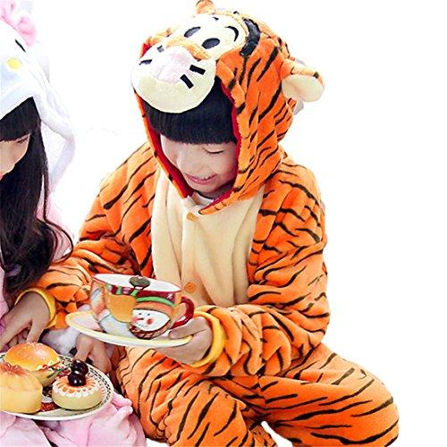Silver Moonlight Halloween Pajamas Homewear Onepiece Onesie Cosplay Costumes Kigurumi Animal Outfit Loungewear (M, (Tigger Costume Child)