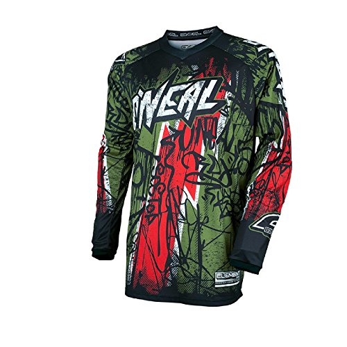 ONeal Element Vandal - Maillot manches longues - vert/rouge 2017 tee shirt manches longues homme