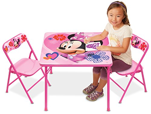Minnie Activity Table Set with 2 Chairs (Mickey Mouse Table Set)