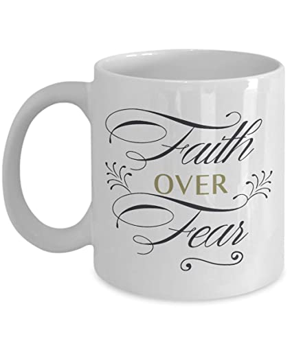 Amazon Faith Over Fear Mug Birthday Christmas Party Gifts For