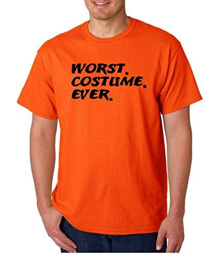 AW Fashions Funny Halloween Shirt - Spooky Hocus Pocus Horror Shirts - Costume T-Shirts Jack O Latern Pumkin Tshirts (Worst Costume Ever, Large)