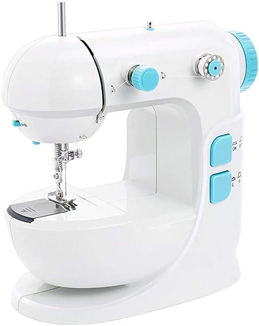 HUKOER Mini máquina de coser eléctrica, máquina de coser eléctrica manual de doble velocidad, máquinas de coser ...