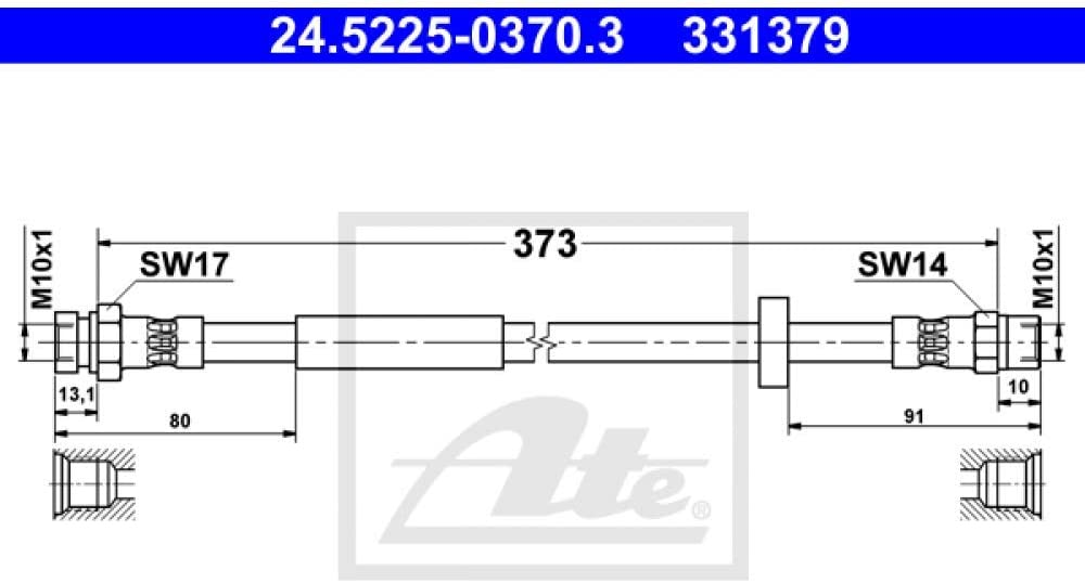 ATE 24.5225-0370.3 Bremsschlauch