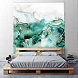 Giant Art PIPG-313K2 Mint Bubbles I Huge Contemporary Abstract Giclee Canvas Print, 54 x 54''