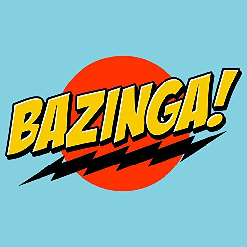 bazinga logo stylish cool printed half sleeve round neck graphic rh amazon in bazinga logo generator bazing login