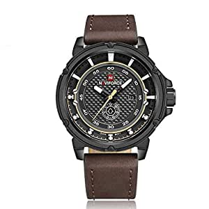 Naviforce Casual Watch For Men Analog Leather - NF9083 B/Y/D.BN