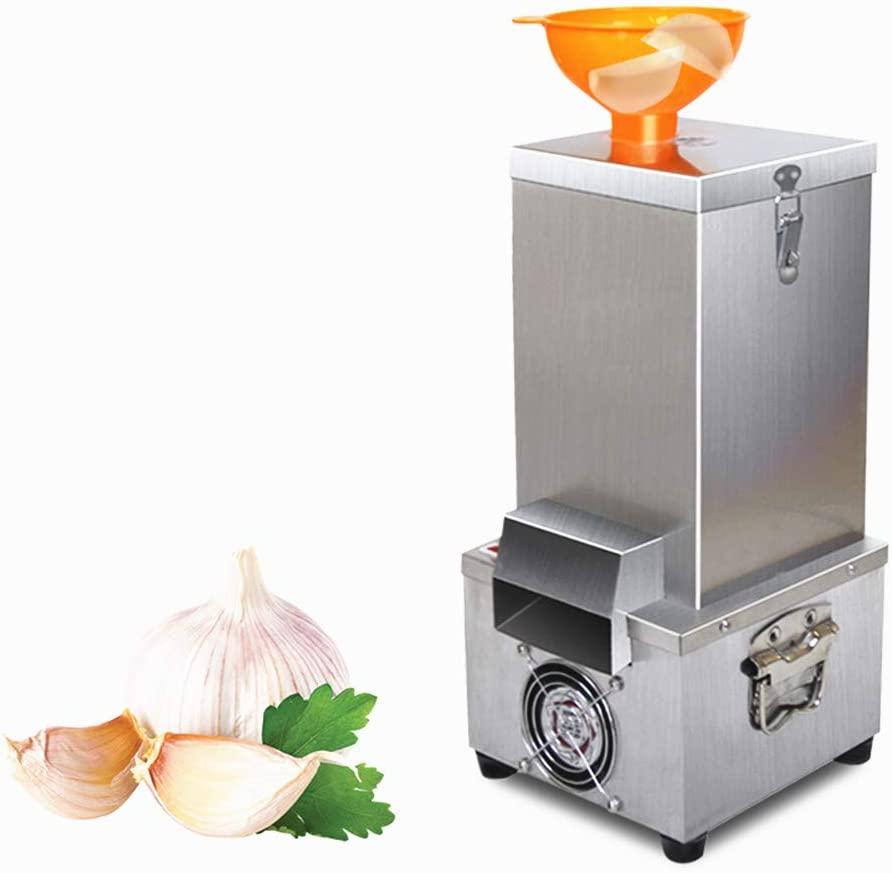 Garlic Peeling Machine-Electric Stainless Steel Garlic Peeler 110V Household and Commercial Use-USA Shipping
