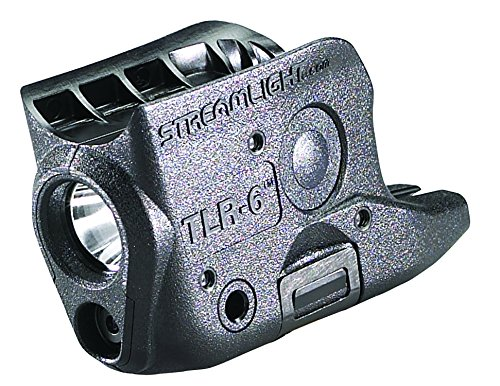 Streamlight 69270 TLR-6 Tactical Pistol Mount Flashlight 100 Lumen with Integrated Red Aiming Laser for Glock 42/43, Black