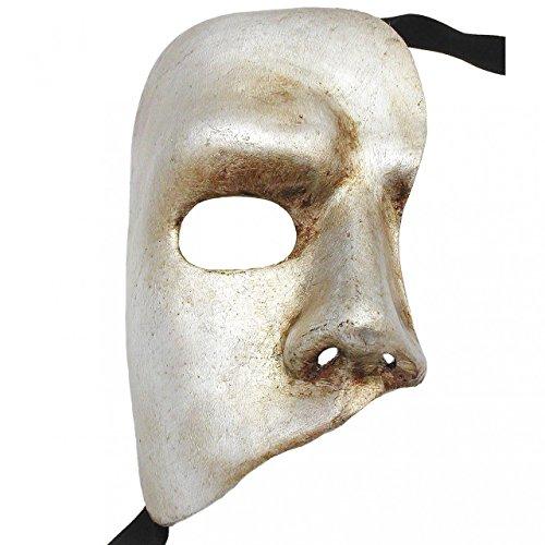 Silver Phantom Of The Opera Fantasma dell Opera Masquerade Mask ()