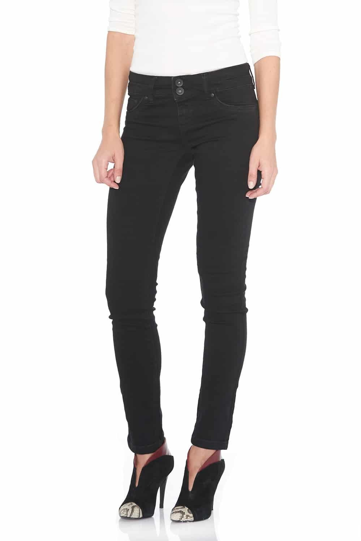 Suko Jeans Women's Powerstretch Denim Skinny Jean Pants 17512-023 Black 10