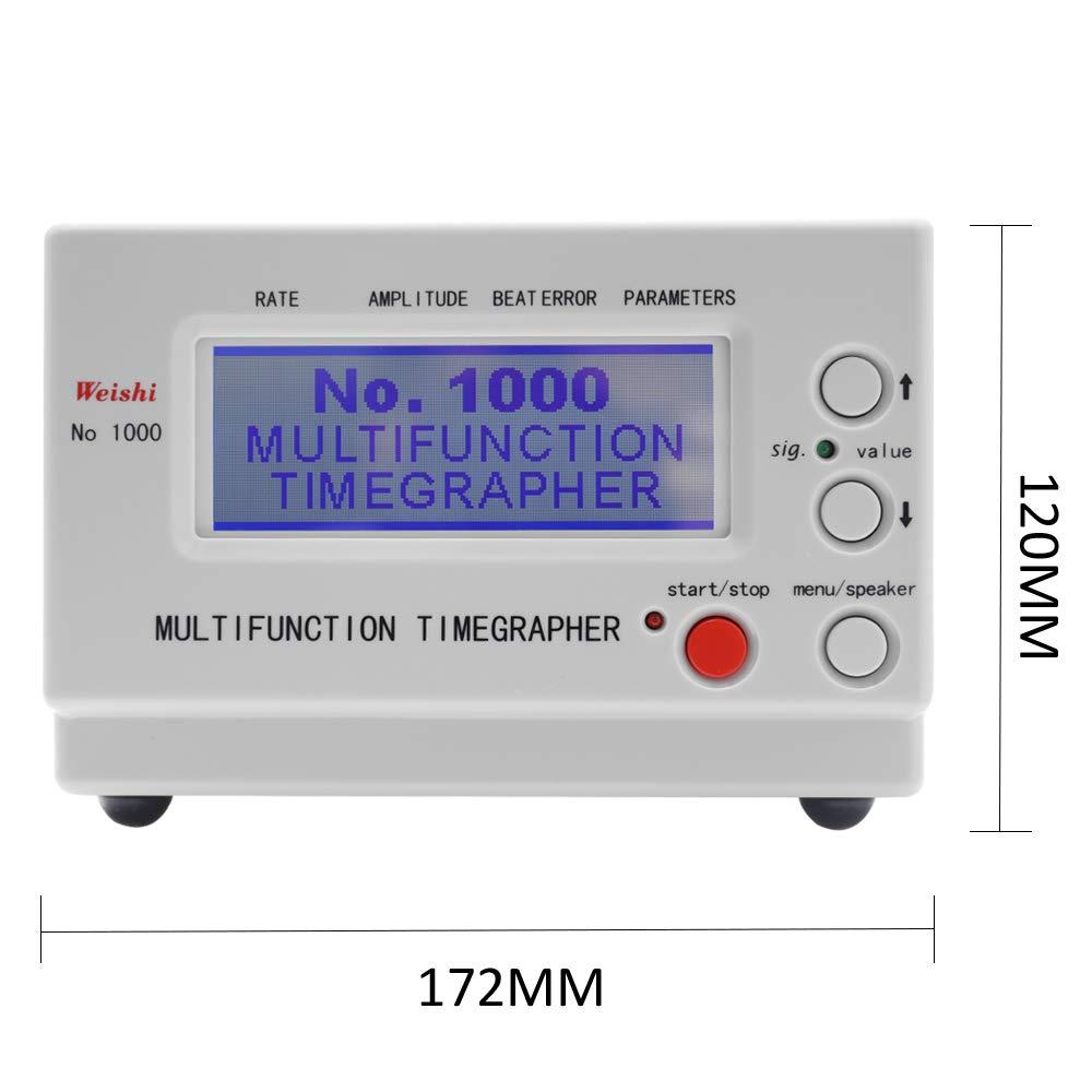 Fesjoy Uhrentester Timing-Multifunktions-Timegrapher Multifunktions-Profi-Uhrentimer-Tester Werkzeuge f/ür Handwerker und Hobbyisten Uhrenwerkzeuge