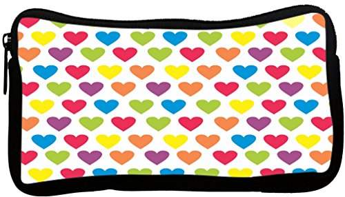 Rikki Knight Rainbow Candy Hearts Design Neoprene Pencil Case (pc503)