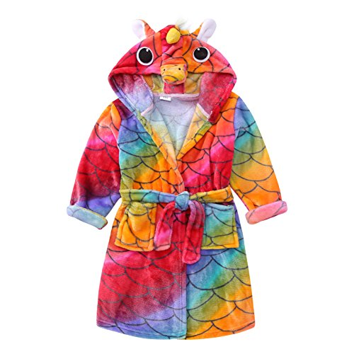 RGTOPONE Kids Soft Bathrobe Animal Fleece Sleepwear Comfortable Loungewear for $<!--$15.99-->