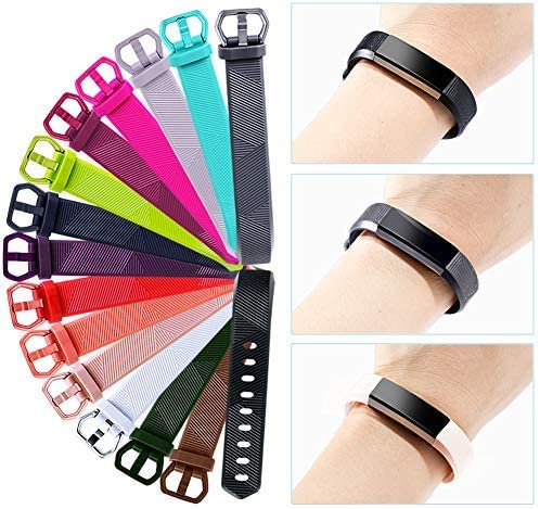 GEAK Bands Compatible with Fitbit Alta and Fitbit Alta HR 3 Pack Soft Silicone Wristbands for Fitbit