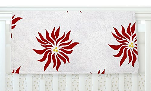 KESS InHouse NL Designs White Pointsettias Red Flower Fleece Baby Blanket 40 x 30 [並行輸入品]   B077Z5XBYY