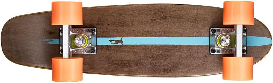 Talla 22-Inch Ridge Skateboards Maple Mini Dark Dye Longboard