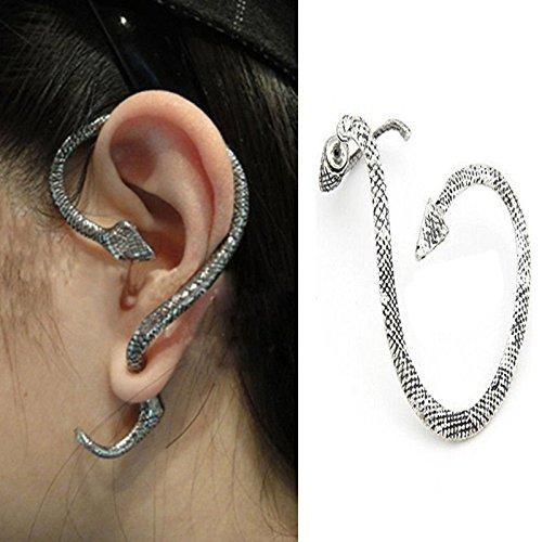 Elegant Fashion Crystal Clip Ear Cuff Stud Women's - Ear Cuffs Snake