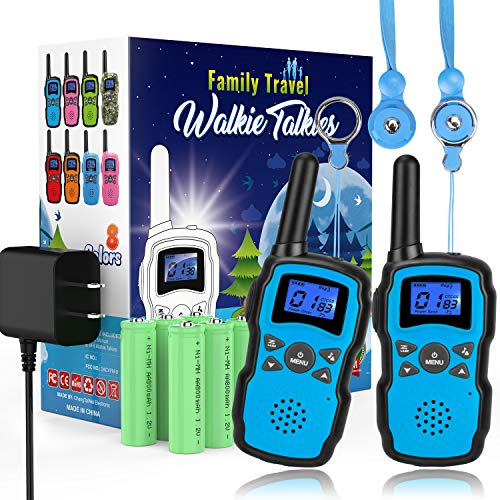 Radio Company Halloween (Wishouse 2 Rechargeable Walkie Talkies for Kids with Charger Battery, Two Way Radio Family Talkabout Long Range, Outdoor Games Camping Adventure Toys Birthday Xmas Gifts for Girls Boys Age 3-12)