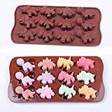 WYD Silicone Heart Mold Shaped BY WYD Silicone Chocolate Molds, Candy, Jelly, Ice Cube, Soap Mold (Dinosaur) by WYD