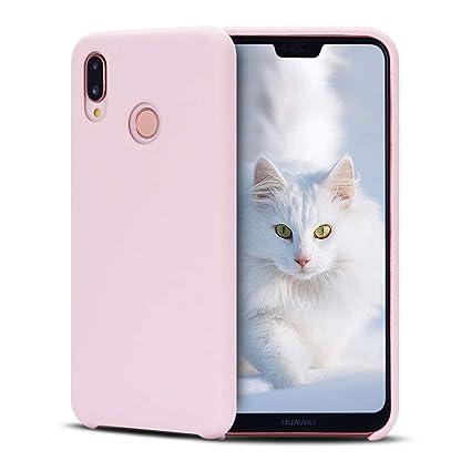 SpiritSun Funda Huawei P20 Lite, Líquido Silicona Carcasa Case Suave Flexible Gel TPU Bumper Tapa Shock-Absorción Anti Rasguños Original Funda ...
