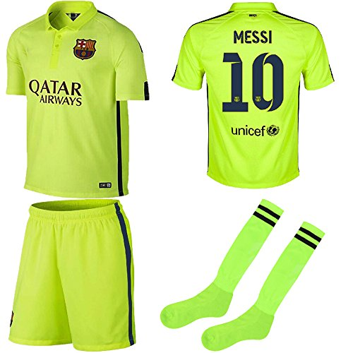 wholesale dealer 54506 6537e Barcelona Kids Jersey 2014/2015 Fc Barcelona Third Lime ...
