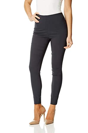 d4f3cae494980 Roman Originals Women Stretch Trousers - Ladies Thick Leggings Pull On  Bengaline Stretchy Fitted Elasticated - Casual Evening Work Office Smart  Occasion ...