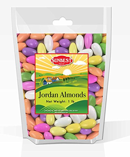 (SUNBEST Assorted Pastel Color Jordan Almonds, JUMBO in BOX and Resealable Bag (15 Ounce))