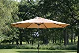 GotHobby 9ft Outdoor Patio Umbrella Aluminum w/ Tilt Crank – Tan
