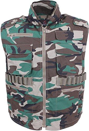 Woodland Camouflage Ranger Vest - Camouflage Military Ranger Vest - Hooded Tactical Hunting Vest