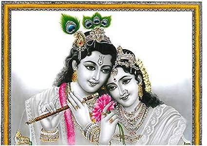 Amazon com: Song of India Radha/Krishna Silver Leaf 11 25
