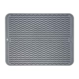 ZLR Silicone Dish Drying Mat Easy Clean Dishwasher