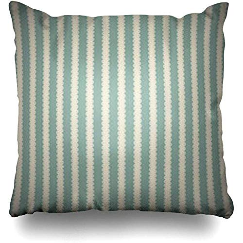 Throw Pillow Case Stripes Brown Wall Vintage Abstract Shadow Antique Color Curve Stripe Decor Cushion Cover Home Sofa Square Size 18 x 18 Inches - Brown Shadow Stripe