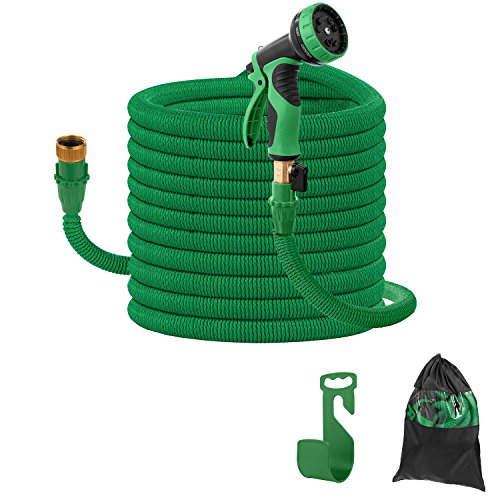 Camande 2018 Upgrade Expandable 50FT Garden Hose,Lightweight Durable Water Hose With Brass Connectors,9 Pattern Spray for Gardens, Aisles, Yards and Houses by Camande