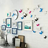 Home@Wall photo frame Photo Gallery Frame Set Of Wall With Usable Artwork And Family, Set Of 9 Butterfly Style ( Color : C )