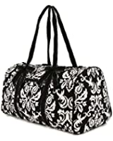 "Belvah Large Quilted Damask Print 21"" Duffle Bag - Chioce of Colors"
