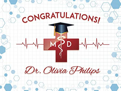 Doctor Graduation Banner, Congratulations Doctor, Custom MD Banner, Custom Graduation Banner, Medicine Graduation Party, Banner Handmade Party Supply Poster Print Size 36x24, 48x24, 48x36, -
