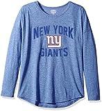 OTS NFL New York Giants Women's Triblend Long Sleeve Dolman Tee, Dolman, Small