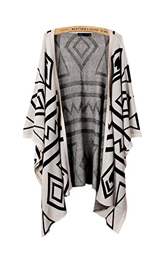 ARJOSA Knitted Geometric Cardigan Sweater
