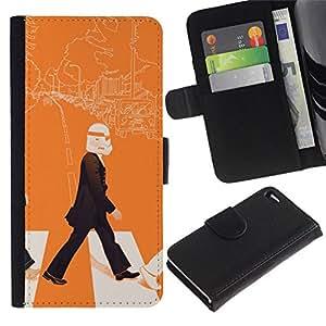 All Phone Most Case / Oferta Especial Cáscara Funda de cuero Monedero Cubierta de proteccion Caso / Wallet Case for Apple Iphone 4 / 4S // Lennon Storm Trooper - Pop Art