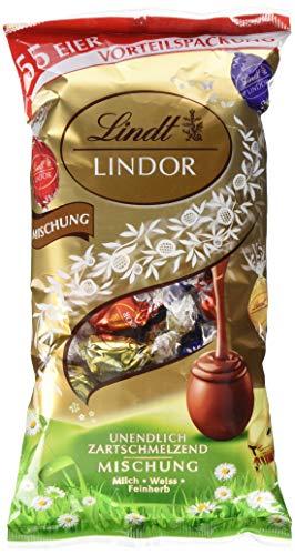 Lindt & Sprüngli 61303 Lindt XXL Ostermix, Mischbeutel aus drei verschiedenen Sorten Lindor-Eiern, Vorteilspack für Familien oder zum Verschenken, 1 x 254g ,