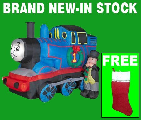Thomas The Train Christmas.Christmas Inflatable Yard Decorations Airblown 5 Ft Inflatable Thomas The Train Outdoor Inflatable Christmas Decoration With Free Stocking
